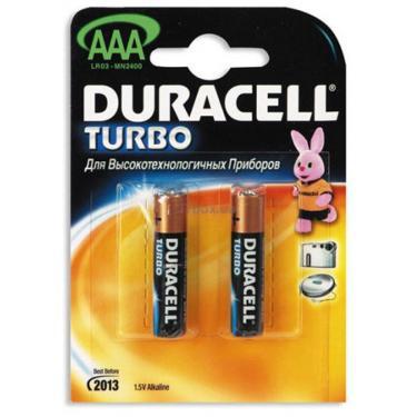 Батарейка Duracell TURBO AAA MN2400 LR3 * 2 Фото 1