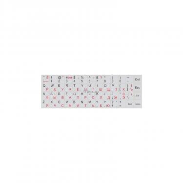 Наклейка на клавиатуру BRAIN white Фото
