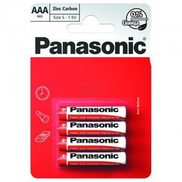 Батарейка PANASONIC AAA R03 RED ZINK * 4 Фото 1