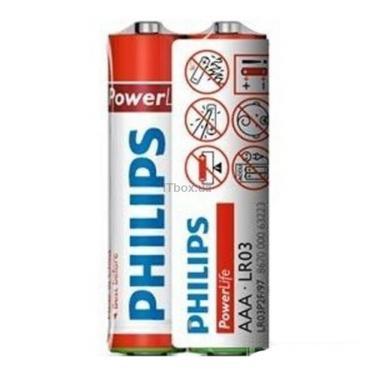 Батарейка PHILIPS LR03 PHILIPS PowerLife P2F * 2 Фото