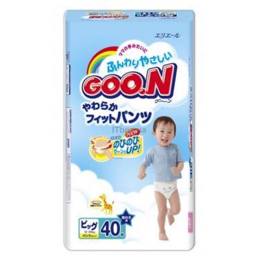 Подгузник GOO.N В/Очень большой для мальчиков (мега) Фото