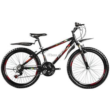 Велосипед Premier XC 24 2014 черный с красным-белым-зеленым-желтым Фото 1