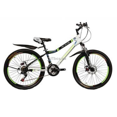 """Велосипед Premier Rover 24 Disc 13"""" TX30 черный с бело-салатовым Фото"""