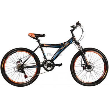 """Велосипед Premier Explorer 24 Disc 16"""" TX30 черный с оранжево-голубы Фото 1"""