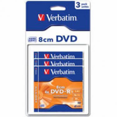 Диск DVD Verbatim 1.4Gb 4X MattSilver Hardcoated 3шт Фото 1