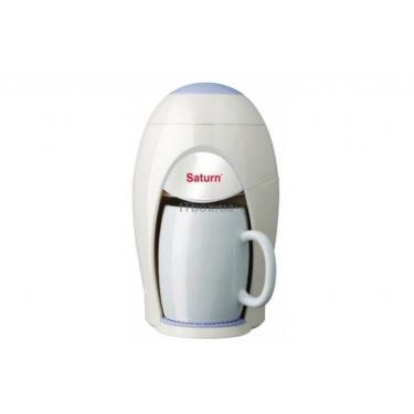 Кофеварка SATURN ST-CM7090 white Фото 1