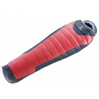 Спальный мешок Deuter Trek Lite 300 chinise red-charcoal левый Фото