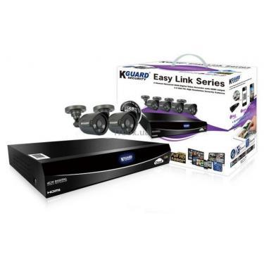 Комплект видеонаблюдения KGuard EL421-2HW212B Фото