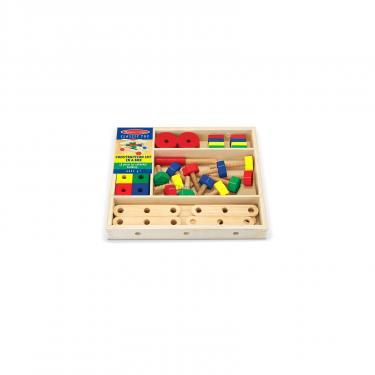 Развивающая игрушка Melissa&Doug Деревянный строительный конструктор Фото