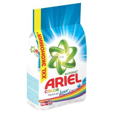 Стиральный порошок Ariel 2в1 Color Lenor Effect 6 кг Фото