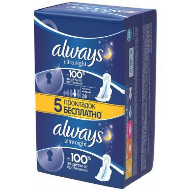 Гигиенические прокладки Always Ultra Night 28 шт Фото 2