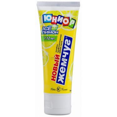 Зубная паста Новый Жемчуг Юниор Лимон и мята 75 мл Фото