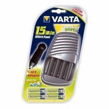 Зарядное устройство для аккумуляторов Varta POWER PLAY 15 Min Ultra Fast+4x2500 Фото 1
