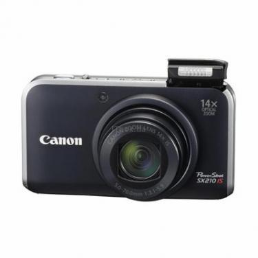 Цифровой фотоаппарат Canon PowerShot SX210 is black Фото 1