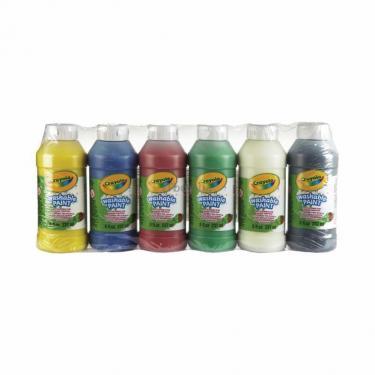 Набор для творчества Crayola 6 баночек со смываемыми красками Фото 1
