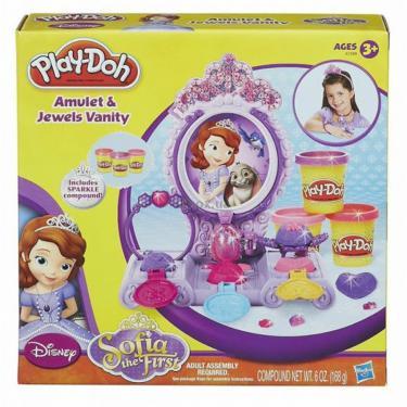 Набор для творчества Hasbro Play-Doh Туалетный столик принцессы Софии Фото 1