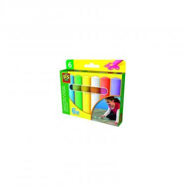 Набор для творчества SES Мелки для асфольта Веселая палитра (6 цветов) Фото 1