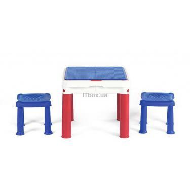 Детский стол Keter Constructable 3 в1 для игр с конструктором Фото
