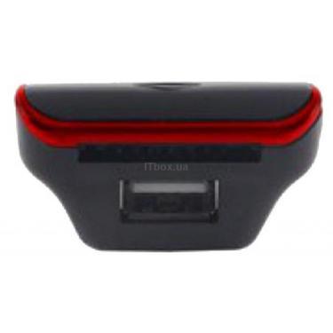 Автомобильный MP3-FM модулятор Grand-X CUFM24GRX red SD/USB Фото 2