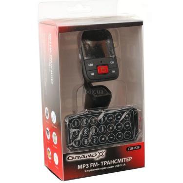 Автомобильный MP3-FM модулятор Grand-X CUFM29GRX Black Фото 2