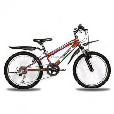 """Велосипед Premier Samurai 20 10"""" красный с черным-зеленым-белым Фото"""