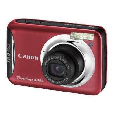 Цифровой фотоаппарат Canon PowerShot A495 red Фото 1