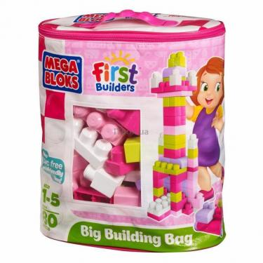 Конструктор Mega Bloks Набор в пакете Розовый Фото 1