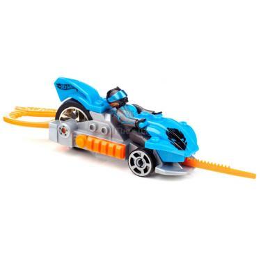 Конструктор Mega Bloks Набор с мехускорителем Синий гоночный автомобиль Фото 5
