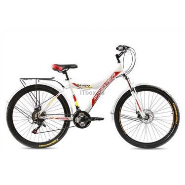 """Велосипед Premier Raven Disc 17"""" белый с красно-оранжевым Фото 1"""