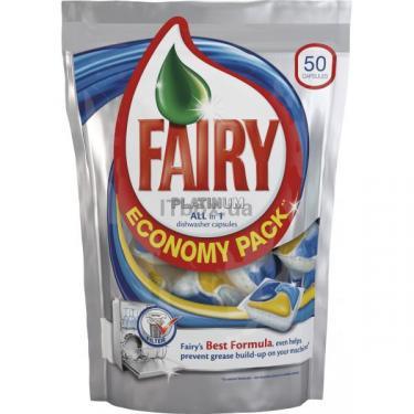Капсулы для мытья посуды Fairy в посудомоечной машине Platinum All in 1 50 шт Фото