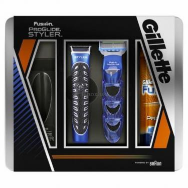 Набор для бритья Gillette Бритва Fusion ProGlid Styler + Гель Увлажняющий 20 Фото 1