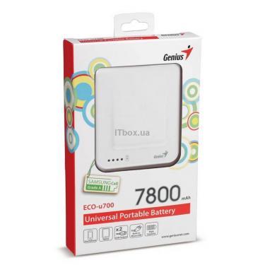 Батарея универсальная Genius ECO-U700 7800 mAh White Фото 7