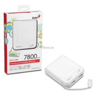 Батарея универсальная Genius ECO-U700 7800 mAh White Фото 8
