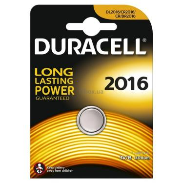 Батарейка Duracell CR 2016 / DL 2016 * 1 Фото