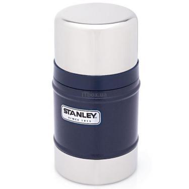 Термос Stanley Классический 0,5 л темно-синий Фото