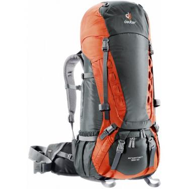 Рюкзак  Deuter Aircontact 55+10 granite-papaya Фото