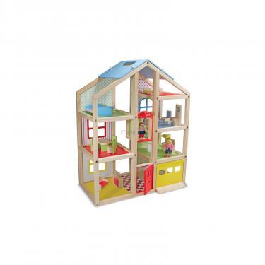 Игровой набор Melissa&Doug Кукольный домик с подъемником и мебелью Фото