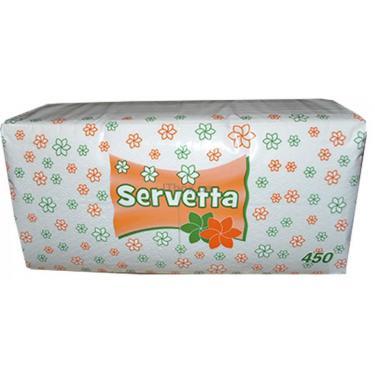 Салфетки столовые Servetta белые 1-слойные 450 шт Фото