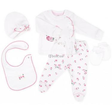 Набор детской одежды Bibaby 5 шт для девочек, кремовый-розовый Фото 1