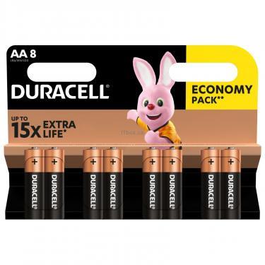 Батарейка Duracell AA MN1500 LR06 * 8 Фото 1