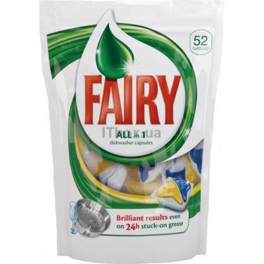 Капсулы для мытья посуды Fairy в посудомоечной машине All in 1 52 шт Фото