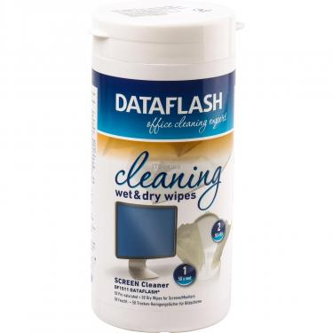 Салфетки DataFlash for TFT/PDA/LCD tub-100-pac (50+50) Фото 1