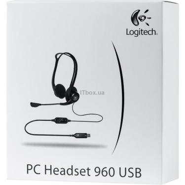 Наушники Logitech PC 960 Stereo Headset USB Фото 7