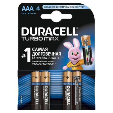 Батарейка Duracell AAA TURBO MAX LR03 * 4 Фото