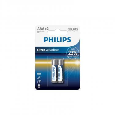 Батарейка PHILIPS LR03 PHILIPS Ultra Alkaline * 2 Фото