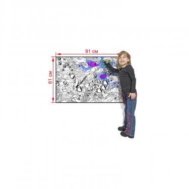 """Набор для творчества Melissa&Doug Огромная настенная раскраска """"Тропическая морская  Фото 1"""