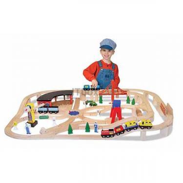 Развивающая игрушка Melissa&Doug Деревянная железная дорога Фото 1
