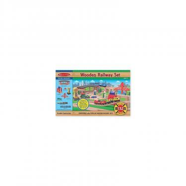 Развивающая игрушка Melissa&Doug Деревянная железная дорога Фото