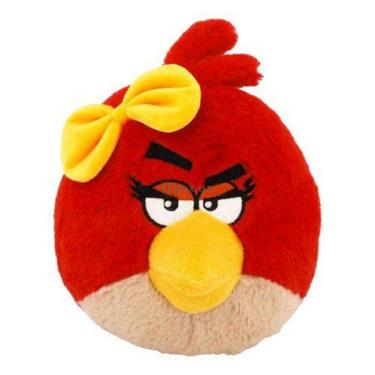 Мягкая игрушка Angry Birds Птичка-девочка красная Фото