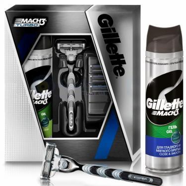 Набор для бритья Gillette Бритва Mach 3 Sensitive + Гель Defense Soothing 20 Фото 1